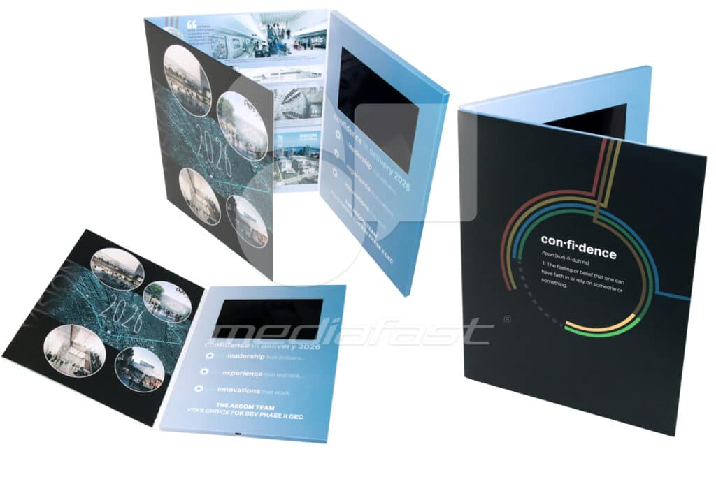 "AECOM Team Video Brochure 9 x 12- Screen: 7"""