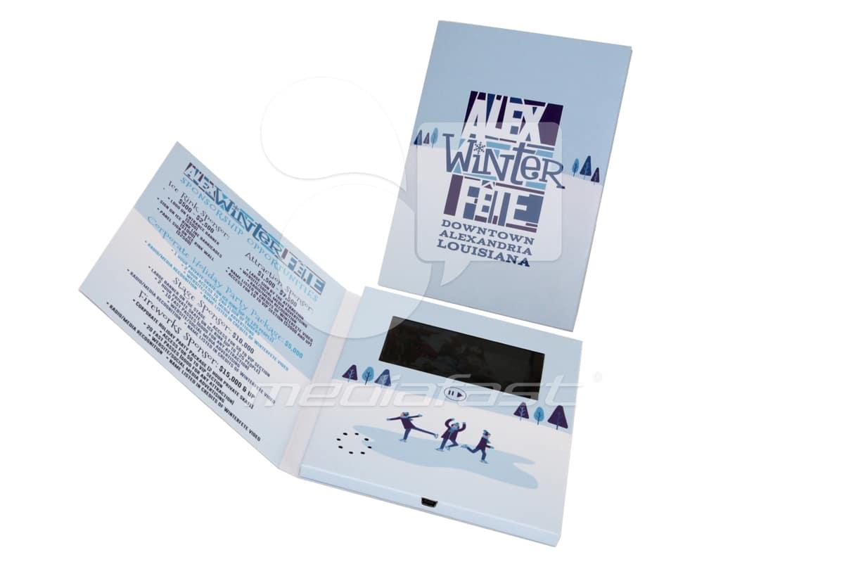 "ALEX Winter Fete Video Brochure 5 X 7. Screen:4"""