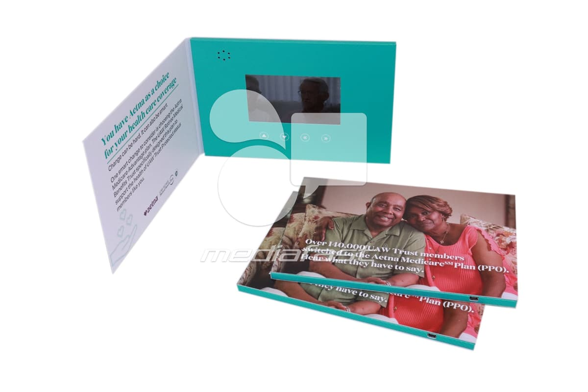 "Aetna Video Brochure 5 x 7 - Screen: 4"""