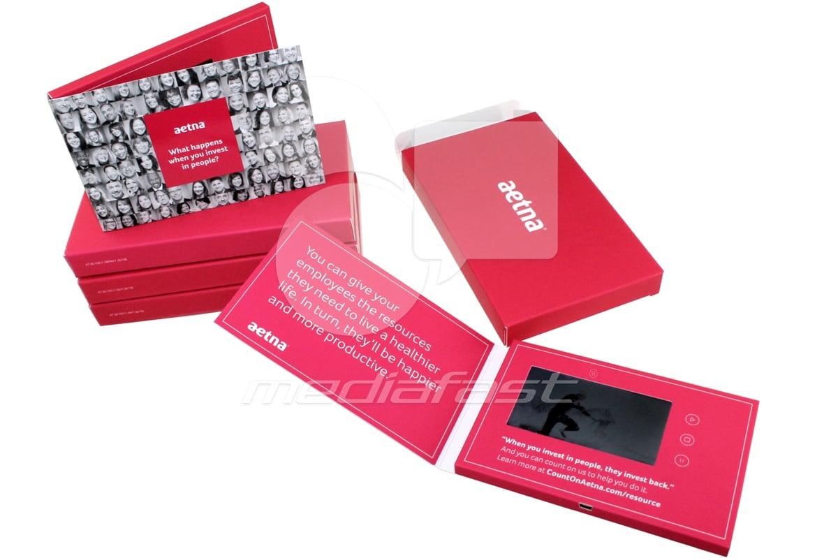 "Aetna - Mailer Video Brochure 4 x 6 - Screen: 4"""