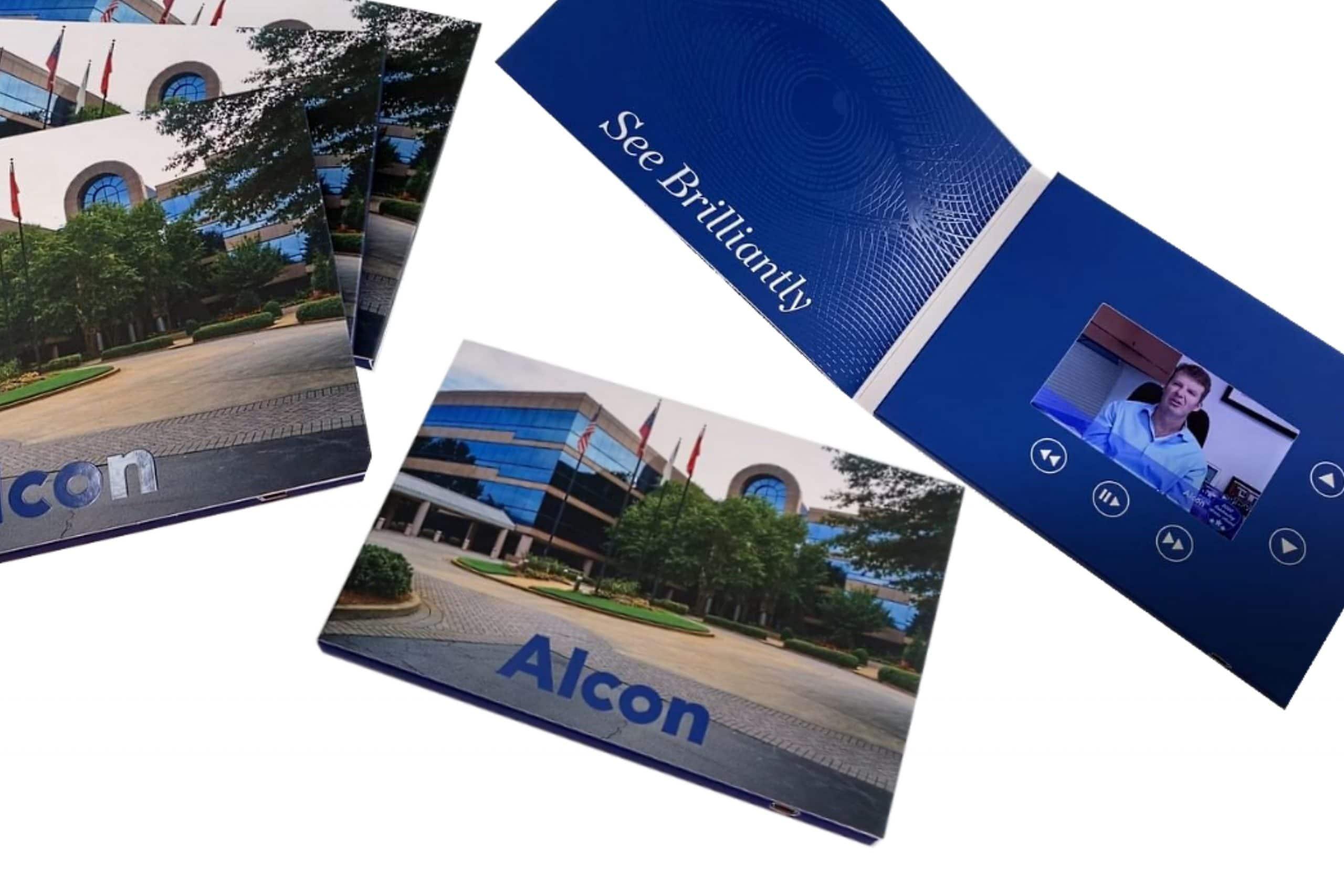 "Alcon Brochure 5 x 7 - Screen: 4""Watch Video"
