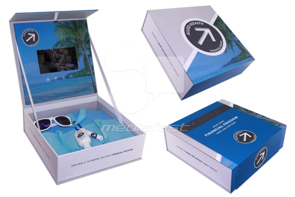 """Alled Wealth Video Box 12 x 12 x 4 - Screen: 7"""""""