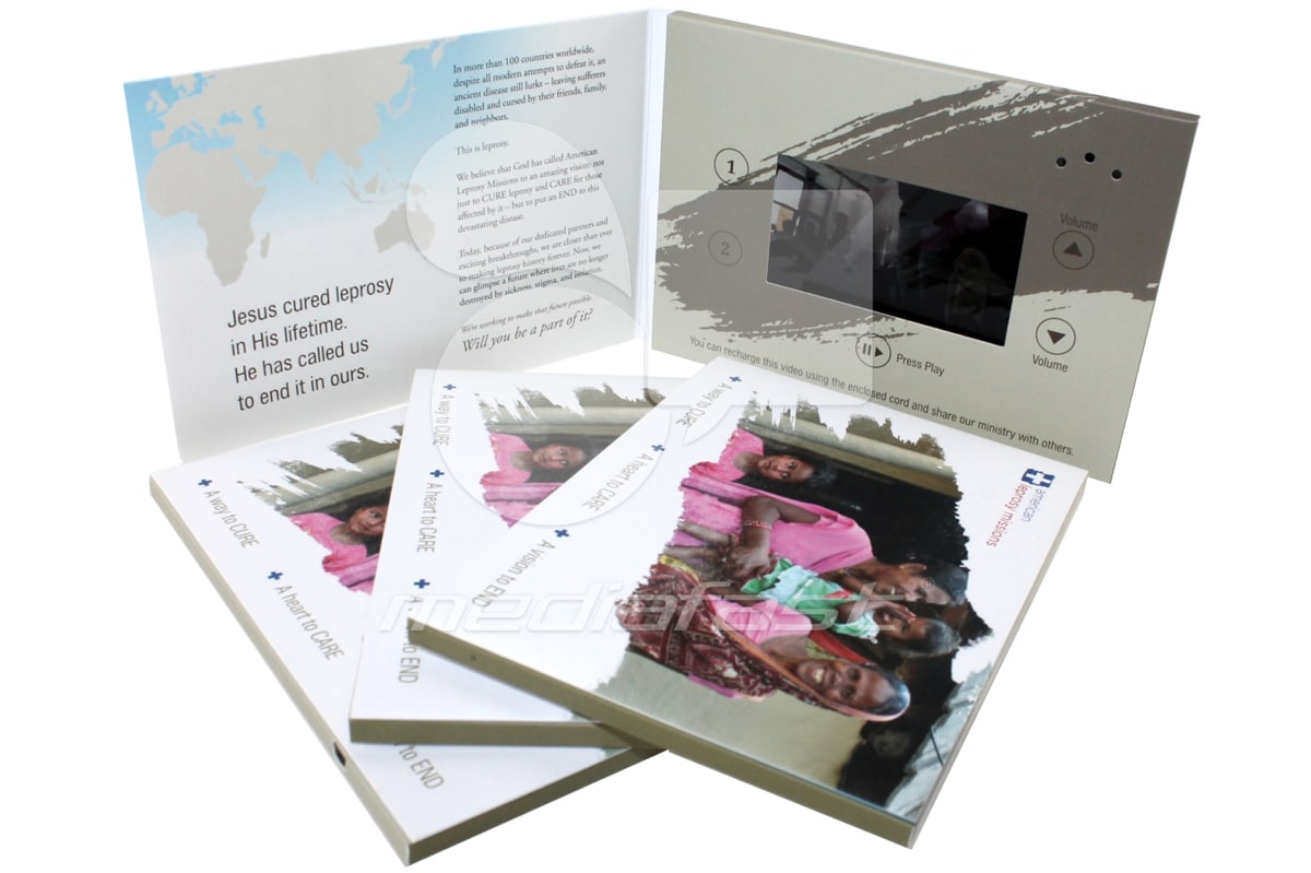 """American Leprosy Mission Video Brochure 5 X 7. Screen: 4"""""""