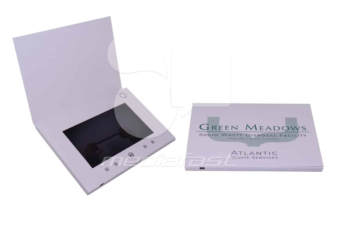 "Atlantic Waste Service- Top Fold Video Brochure 7 X 10- Screen: 7"""