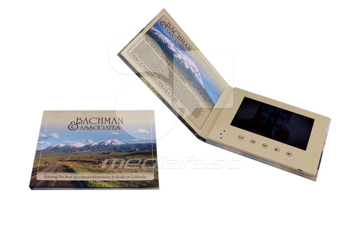 "Bachman Associates Video Brochure 5.82 x 8.26 - Screen: 7"""