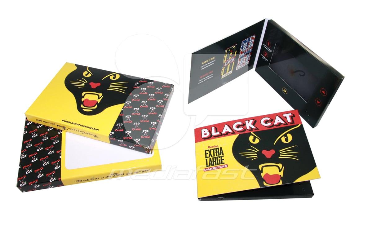 "Black Cat Video Brochure 5 x 7 - Screen: 5"""