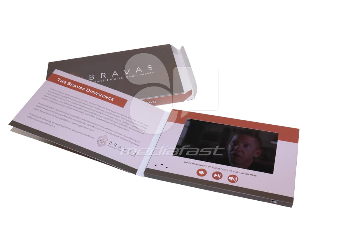 "Bravas Video Brochure 5.56 x 8.5 - Screen: 7"""