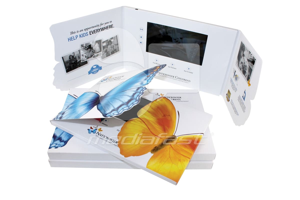 """Butterfly Video Brochure 11 X 7.5- Screen: 7"""""""