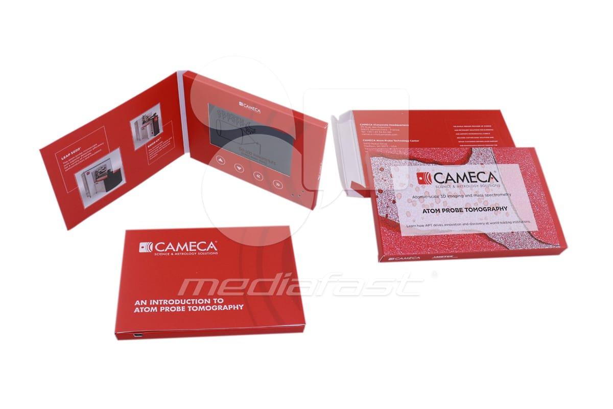 """CAMECA - Mailer Video Brochure 5 X 7- Screen: 5"""""""