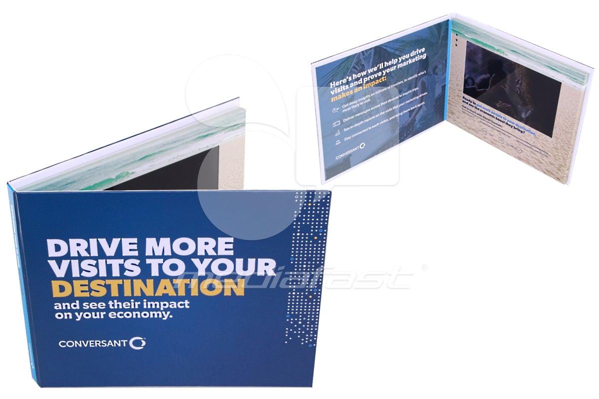 "Conversant- Hard Cover Video Brochure 6.69 X 8.26- Screen: 7"""