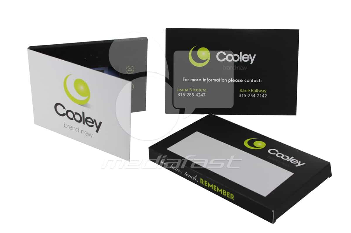"Cooley- Mailer Video Brochure 5 X 6- Screen: 4"""