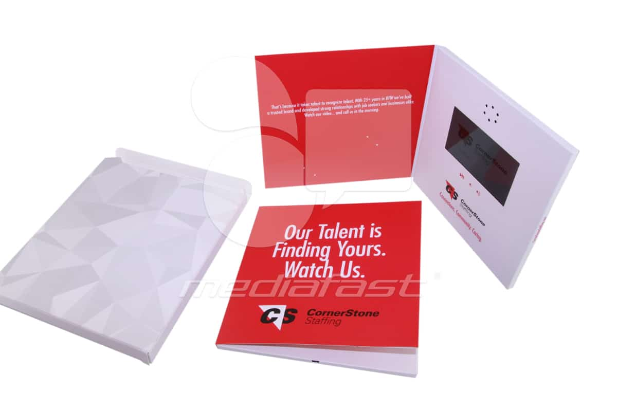 "Corner Stone Staffing, Video Brochure 5 x 6 - Screen: 4"""