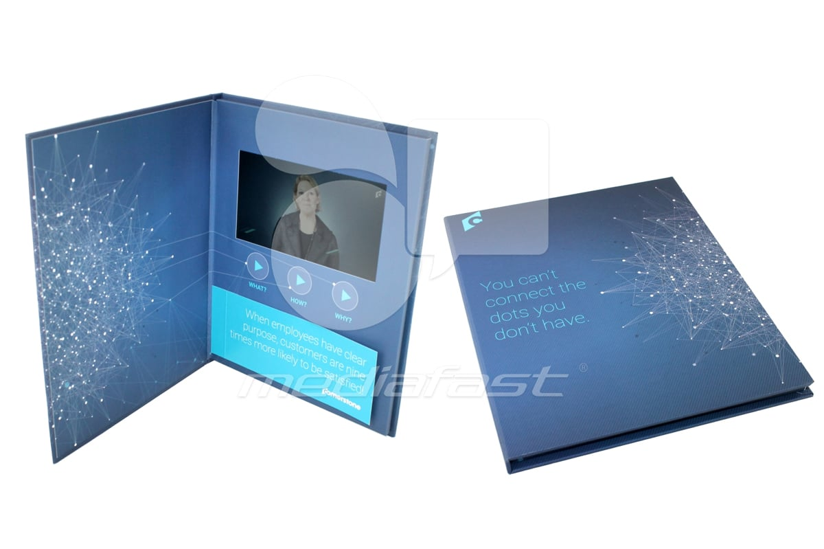 "Corner Stone Vide Brochure , Video Brochure 8.46 x 11 - Screen: 7"""