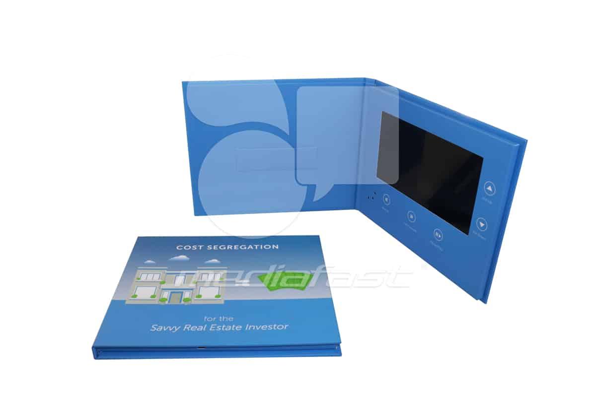"Cost Segregation- Card Holder Video Brochure 7.12 X 8.62- Screen: 7"""