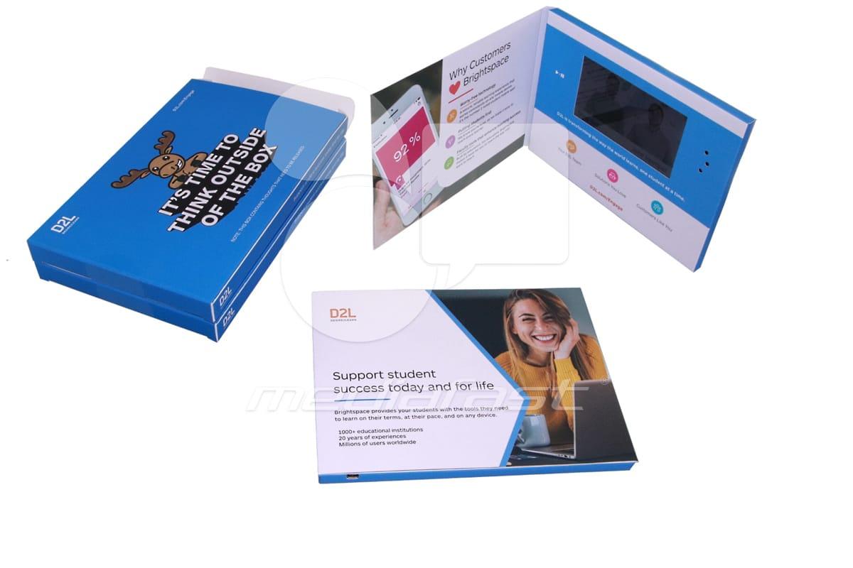 "D2L- Mailer Video Brochure 8 X 6- Screen: 5"""