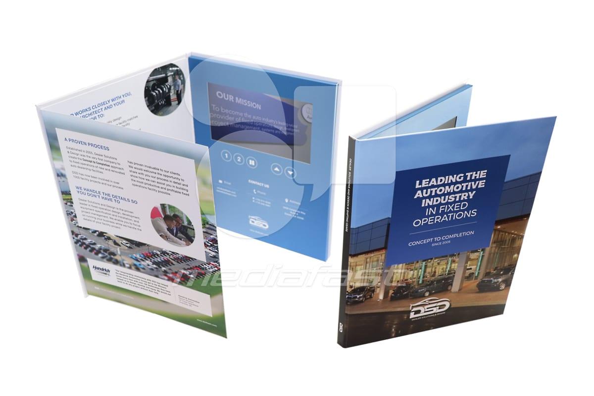 "DSD- Hard Cover Video Brochure 9 X 12- Screen:7"""