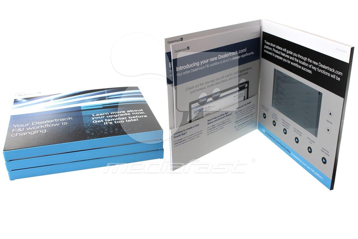 "Dealer Track - Hard Cover- Pocket Video Brochure 10 X 10- Screen: 7"""