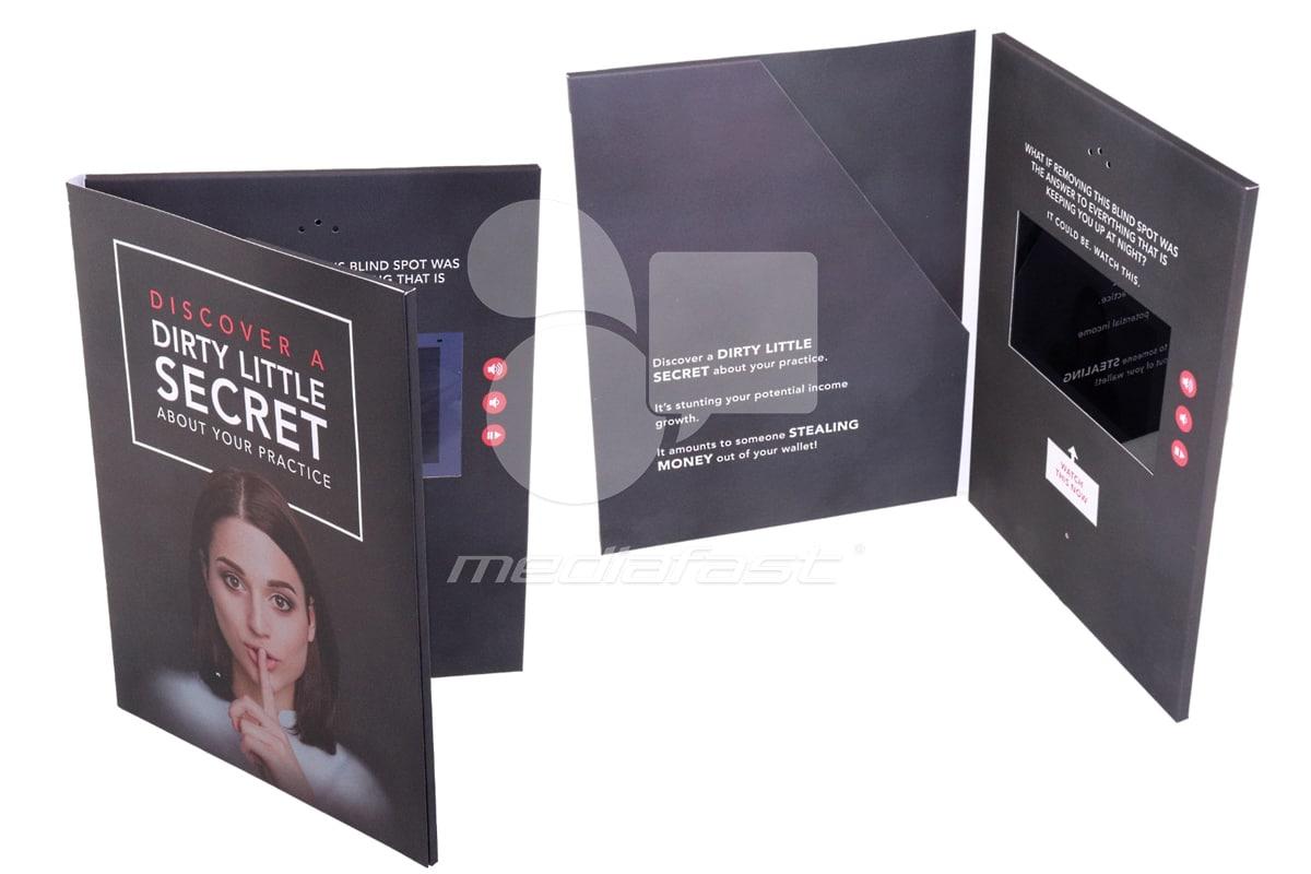 "Dirty Little Secret- With Pocket Video Brochure 9 X 12. Screen:7"""