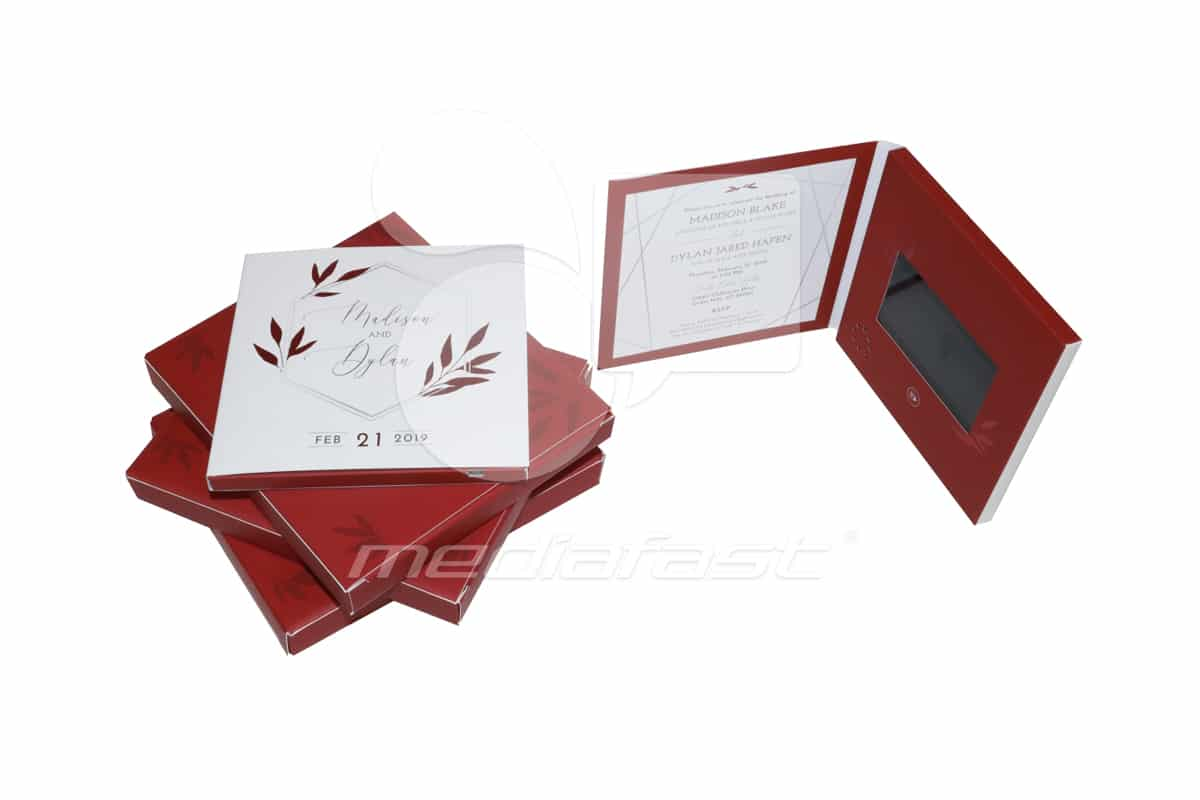 """Dylan and Madison Invitation Video Brochure 5.5 X 5.5- Screen:4"""""""