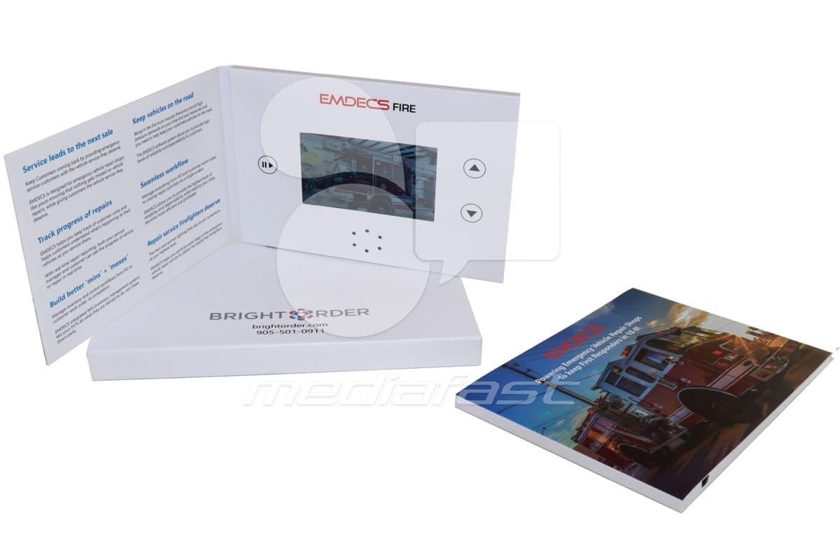 """Emdecs Fire Video Brochure 5 X 7- Screen:4"""""""