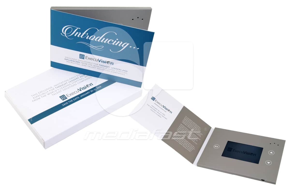 "ExecuVision Video Brochure 5 x 7- Screem: 4"""