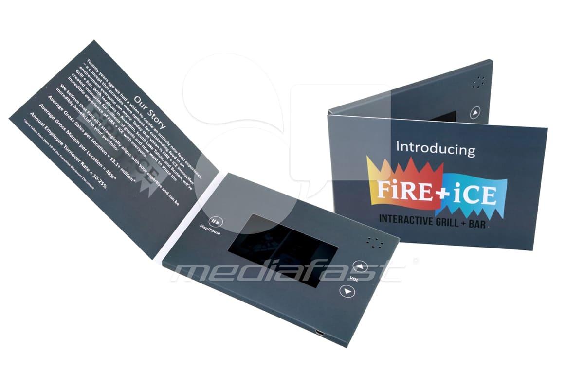 "Fire+ Ice Video Brochure 5 X 7. Screen: 4"""