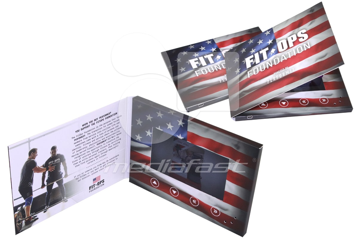 """Fit OPS Foundation Video Brochure 5 X 7. Screen: 4.3"""""""