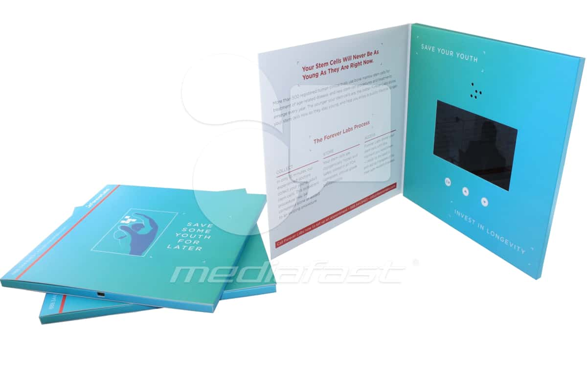 """Forever Labs Video Brochure 8 X 8. Screen: 5"""""""