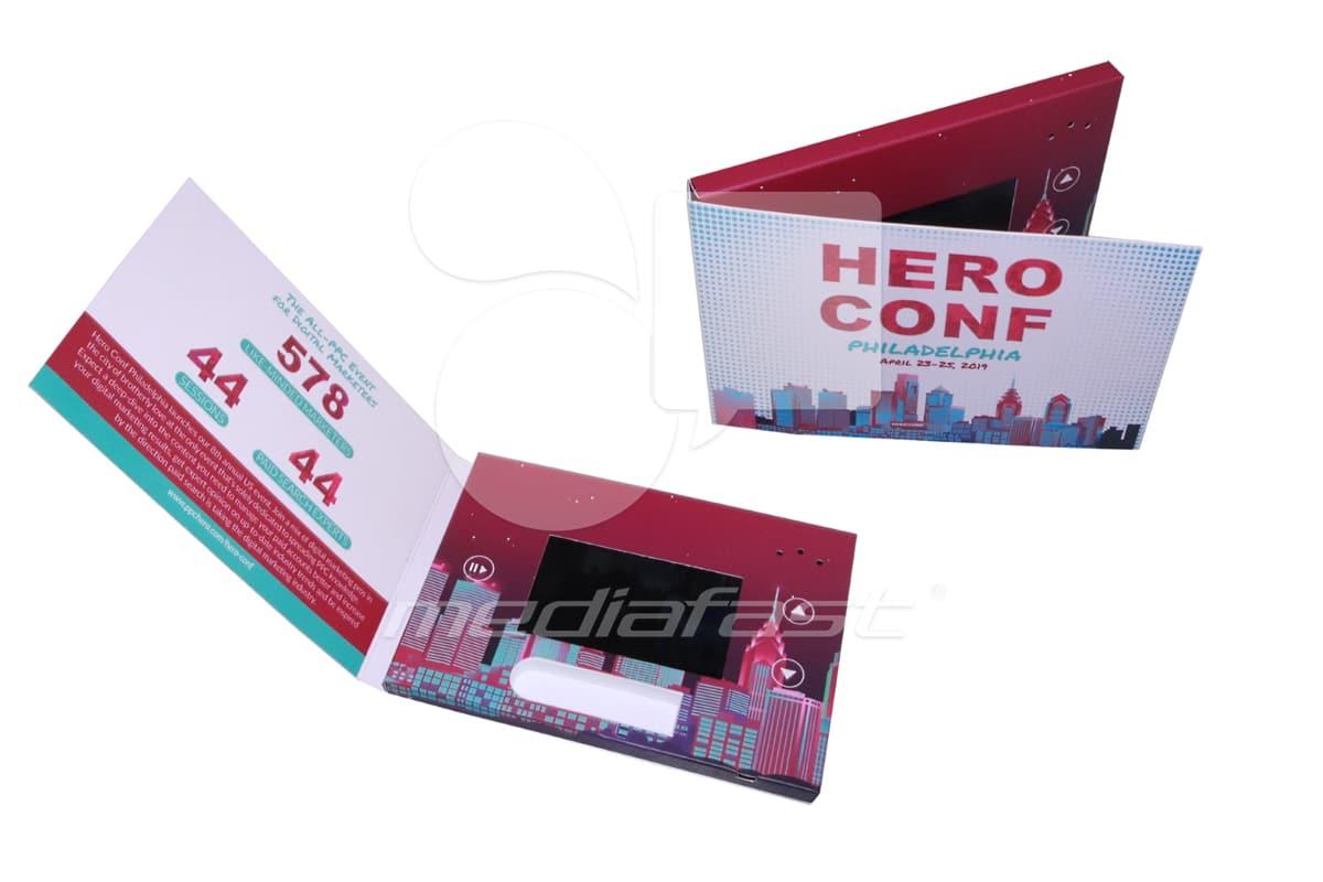 "HERO CONF Video Brochure 5 X 7: Screen: 4"""
