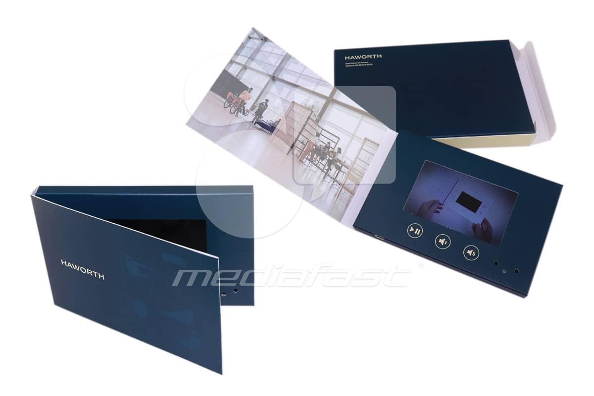 "Haworth Mailer Video Brochure 4 x 6 - Screen: 4"""