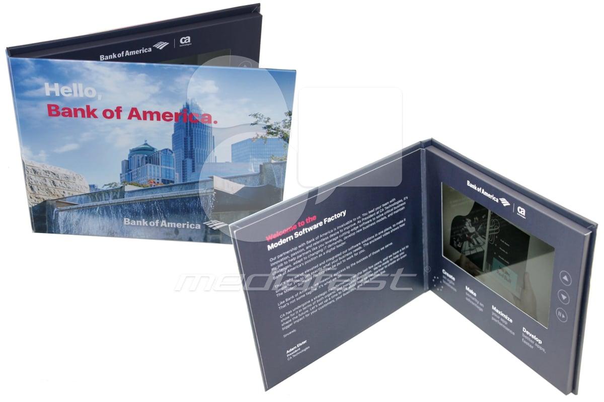 "Hello Bannk of America Video Brochure 6.6 X 8.2: Screen: 7"""