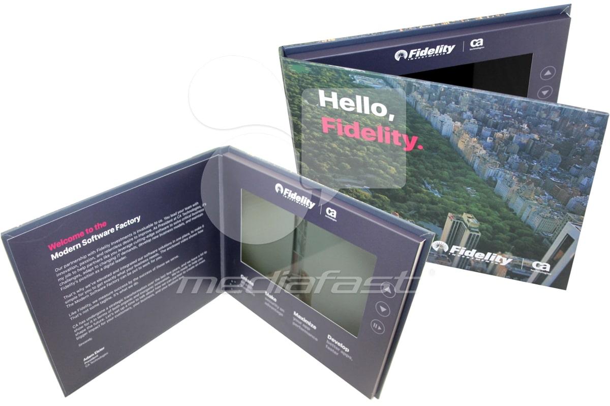 """Hello Fidelity Video Brochure 6.6 X 8.2: Screen: 7"""""""