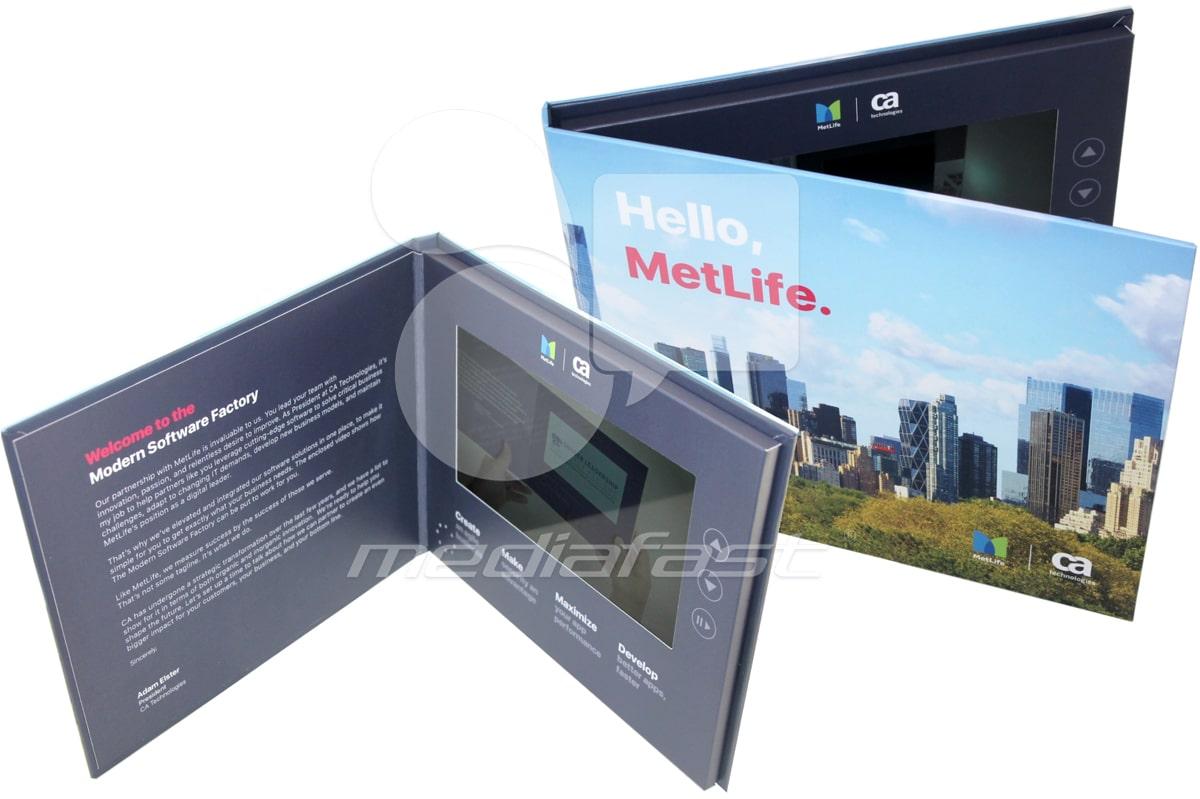 "Hello Metlife Video Brochure 6.6 X 8.2 : Screen: 7"""