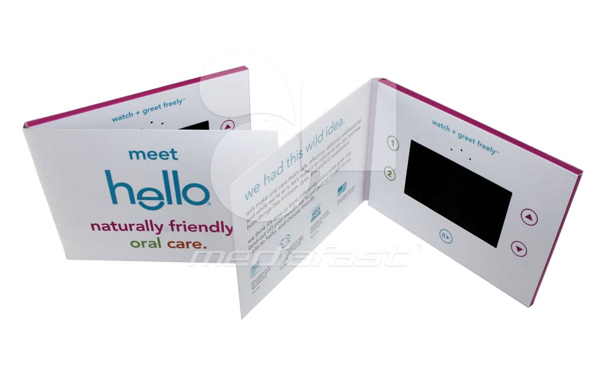 "Hello Video Brochure 5 X 7: Screen: 4"""