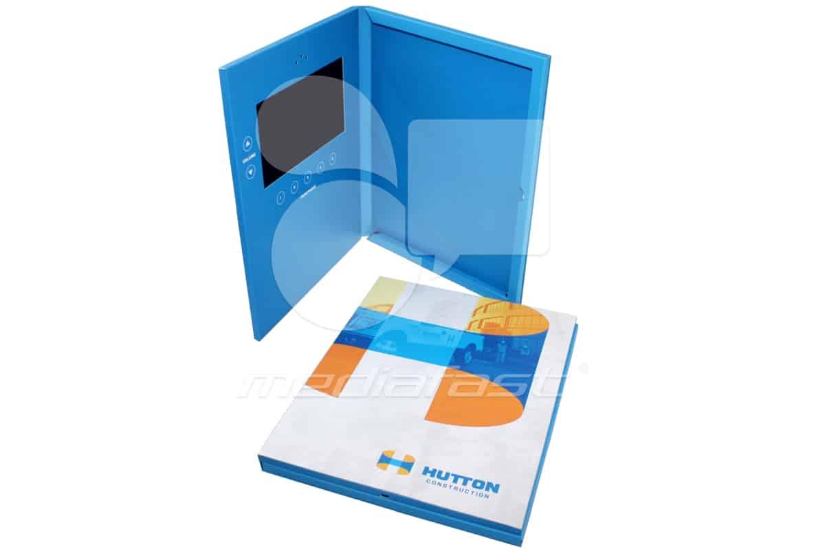 "Hutton Construction- Booklet Holder Video Brochure 8.7 X 11.37: Screen: 7"""