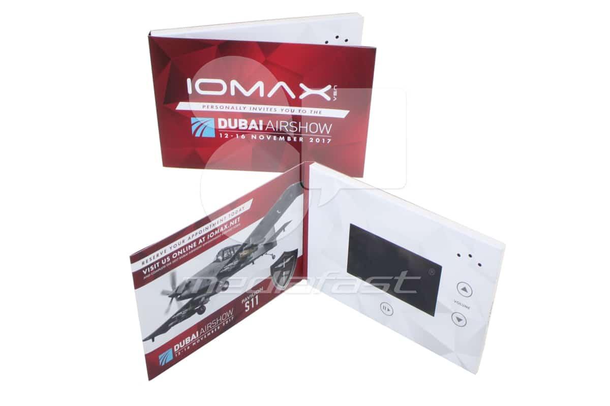 """IOMAX. DUBAI AIRSHOW Video Brochure 5 X 7. Screen:4"""""""