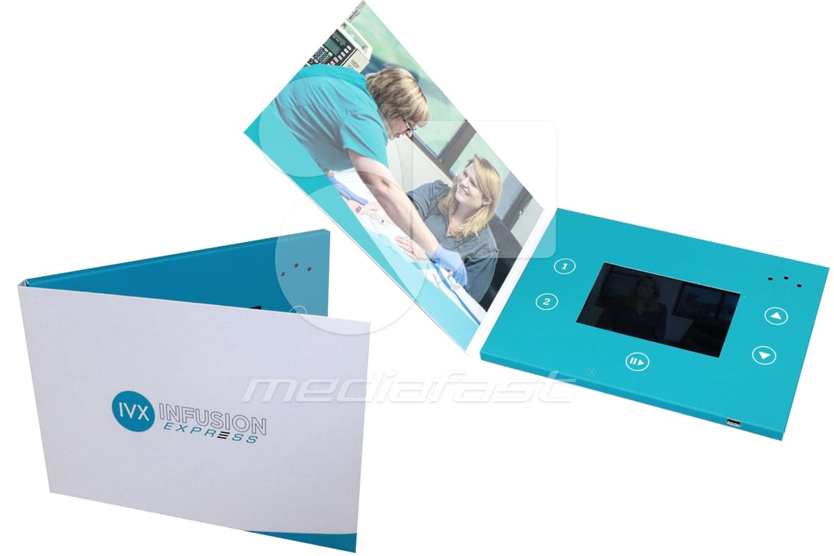 """IVX. Infusion Express Video Brochure 5 X 7. Screen:4"""""""