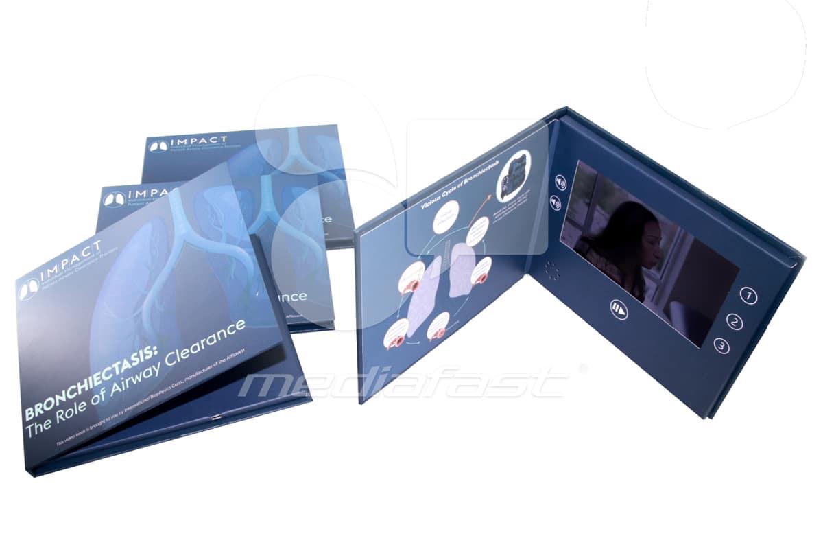 "Impact- Hard Cover Video Brochure 7 X 8.4: Screen: 7"""