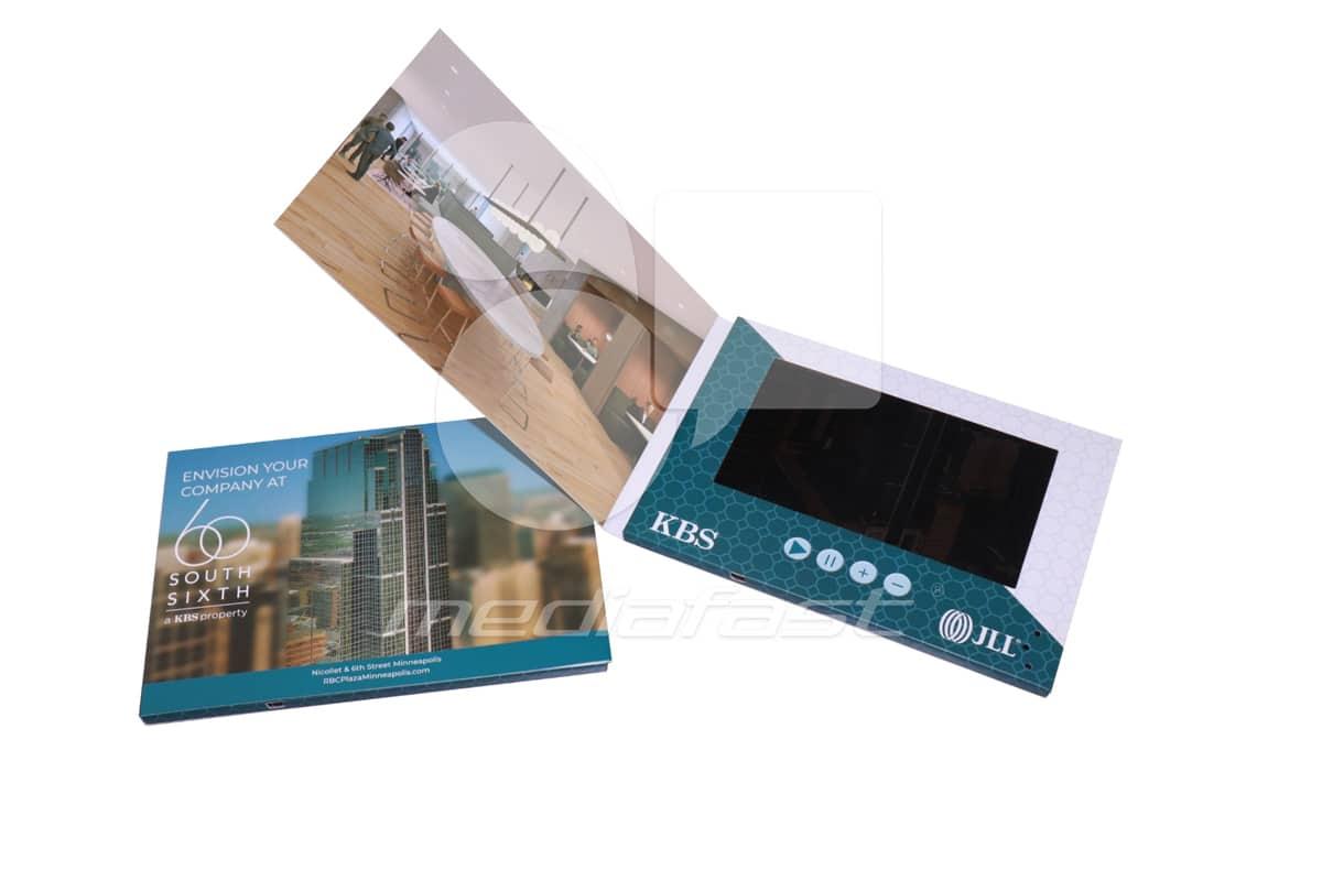 "KBS Hard Cover Video Brochure 5.6 x 8.2 - Screen: 7"""