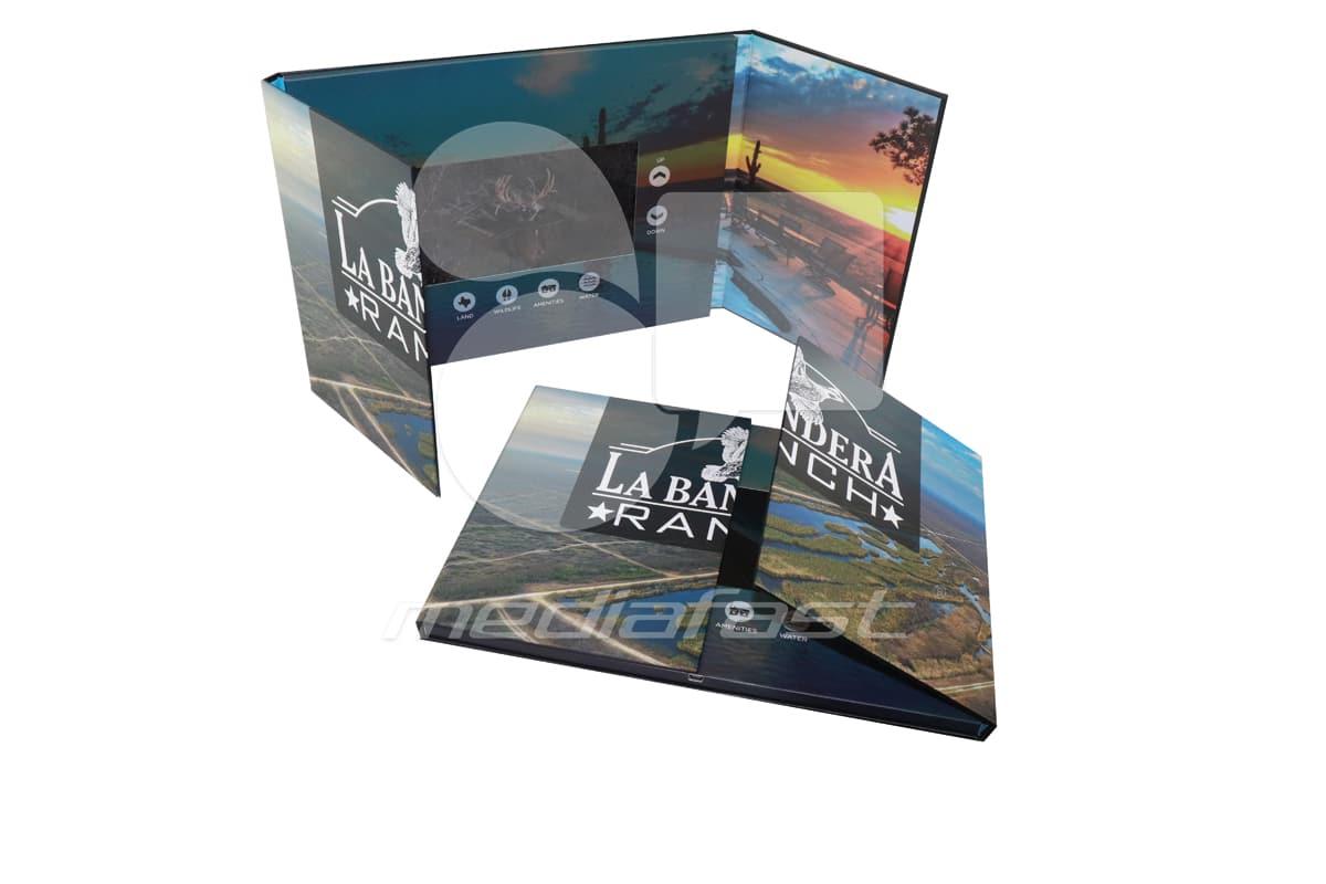 "LaBandera Ranch - Gate FoldVideo Brochure 8.5 X 11.5. Screen:7"""