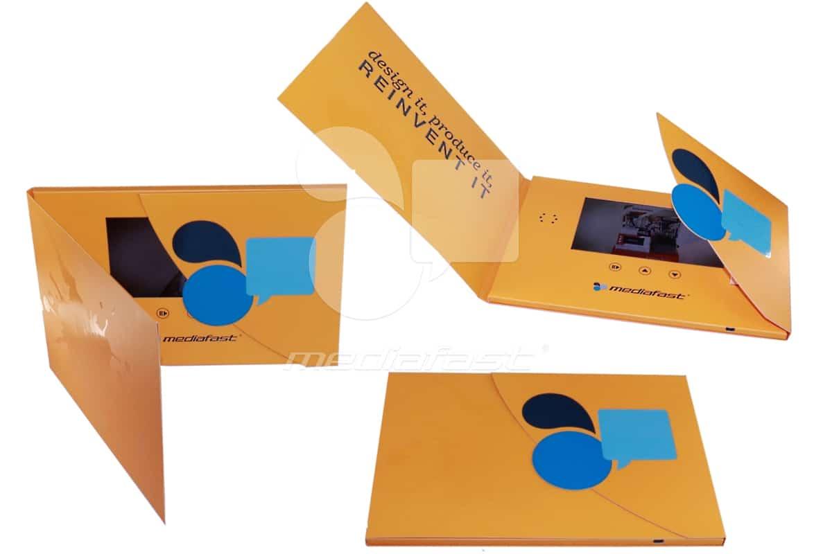 "MediaFast - Gatefold Video Brochure 11 x 7.5 - Screen: 7"""