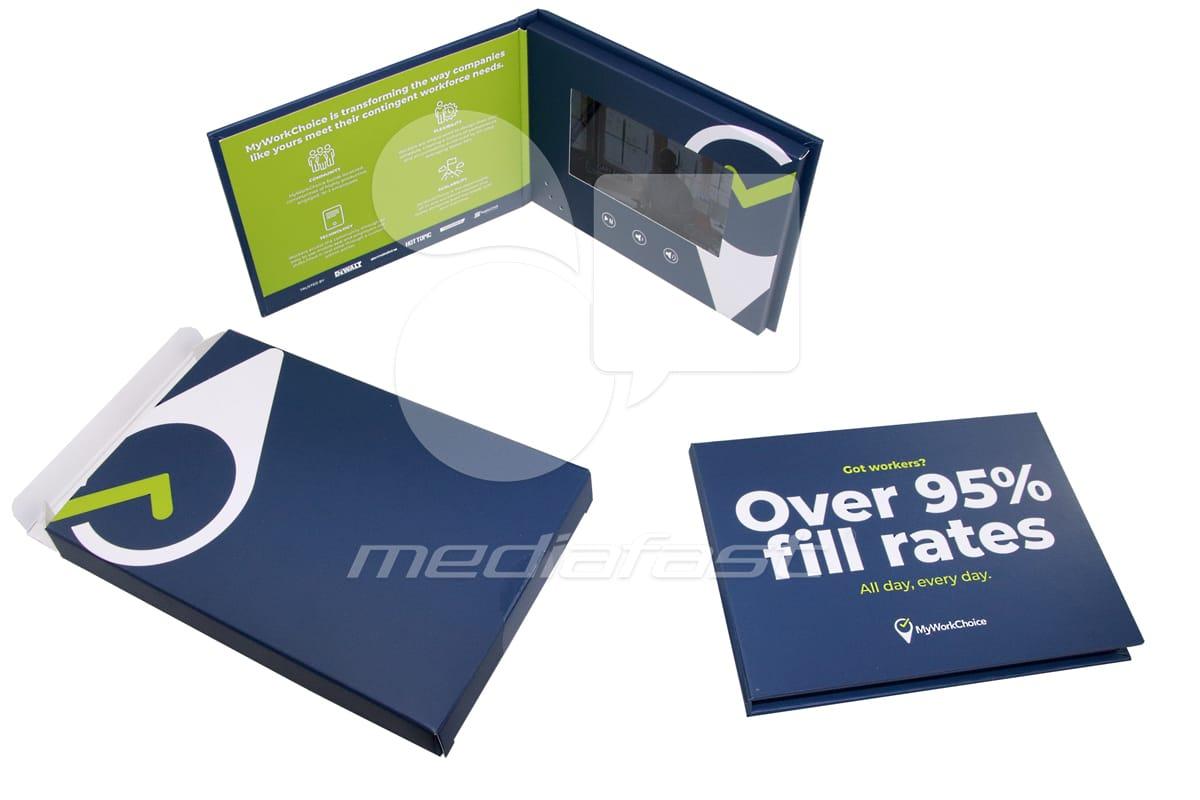 "MyWorkChoice Hardcover Mailer Video Brochure 5 X 7 Screen: 4"""