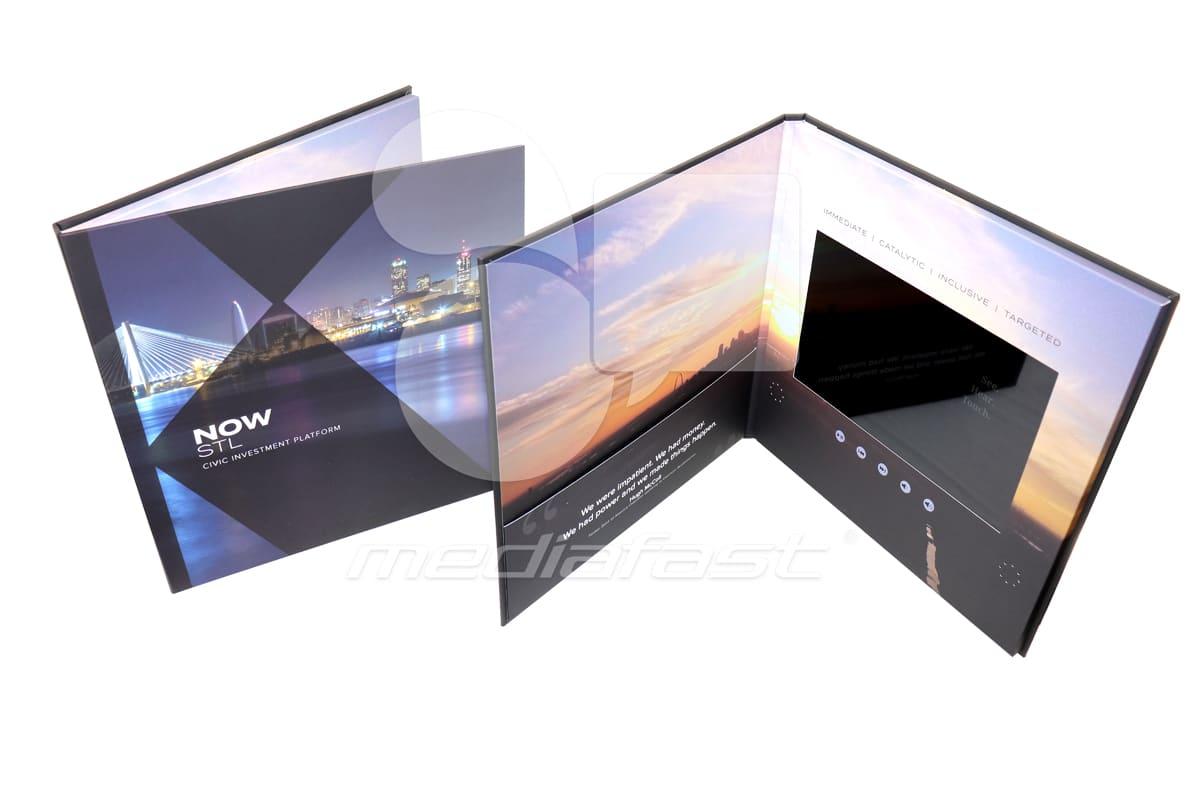 "Now STL- Hard Cover Video Brochure 11.50 X 11.50 Screen: 10"""