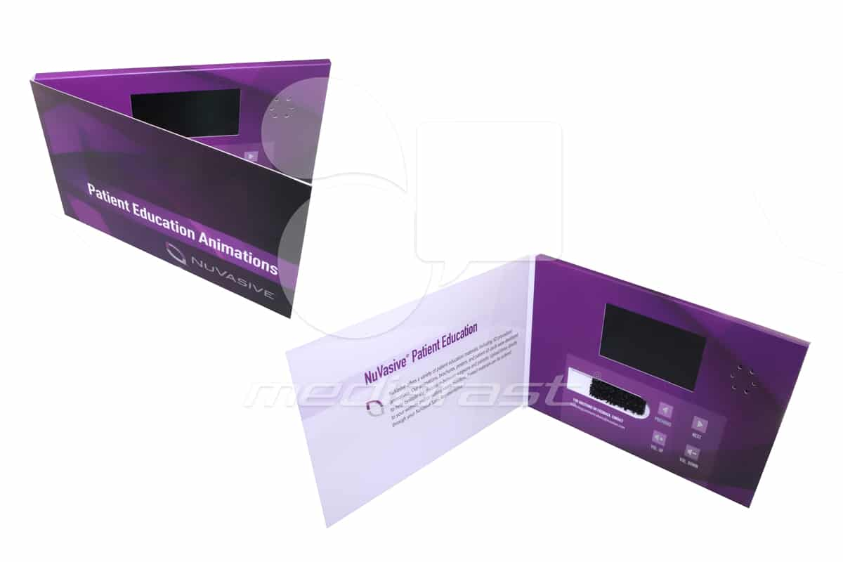 """NuVasie with USB Holder Video Brochure 9 X6 Screen: 5"""""""