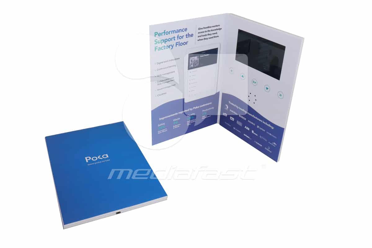 """POKA Video Brochure 6.49 X 9.64- Screen: 7"""""""