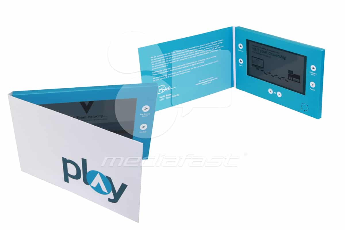 "Play. Team. Velocity Video Brochure 5.7 X 8.45- Screen: 7"""