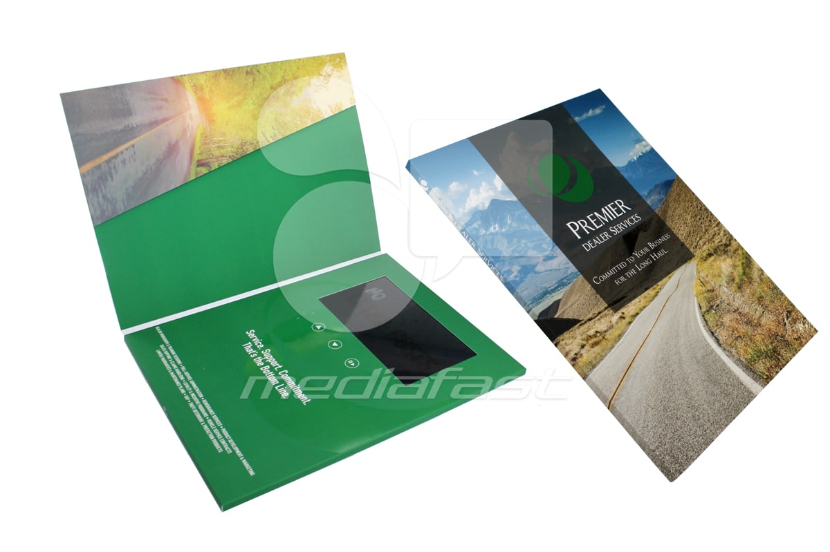 "Premier Dealer Service Video Brochure 9 X 12- Screen: 4"""