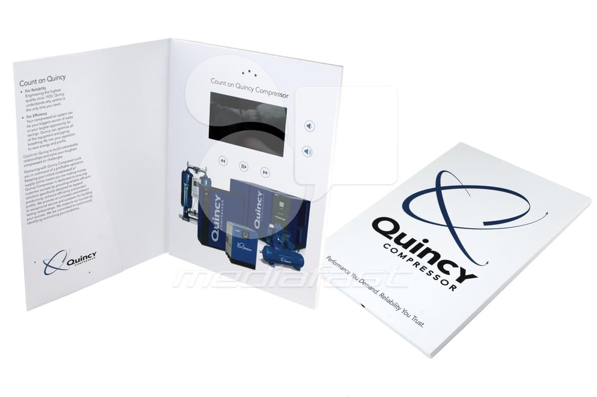 "Quincy Compressor Croup Video Brochure 9 X 12- Screen: 4"""