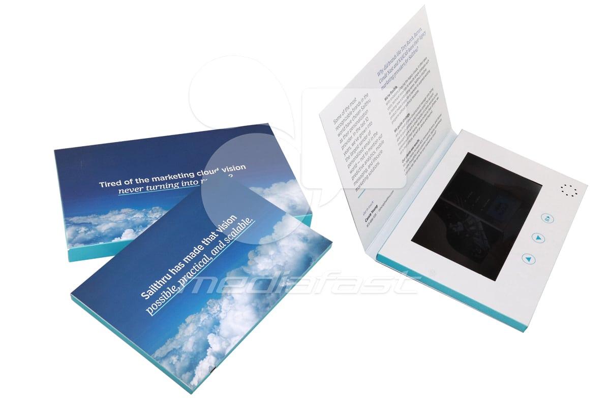 """Saithru- TopFold Video Brochure 7.75 X 8.5- Screen: 7"""""""