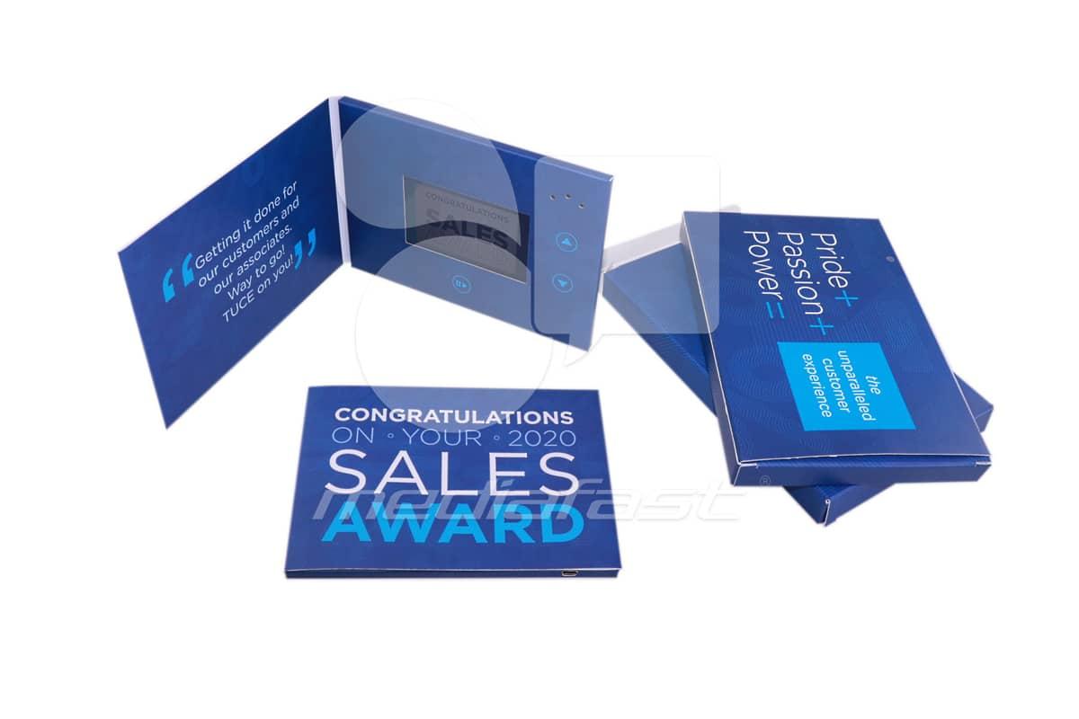 "Sales Award Video Brochure 5 X 7- Screen: 4"""